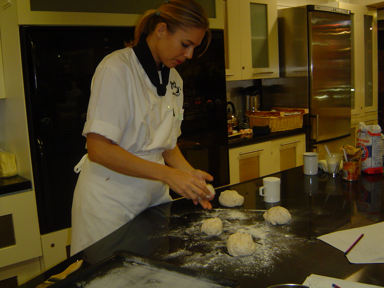 Executive Chef Mel Townsend bread demonstration
