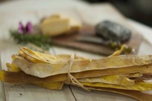 Culinary Bark...Nigella and Turmeric Waterbiscuits