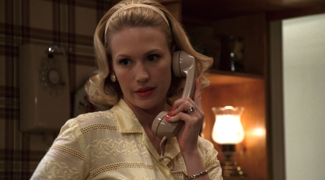 Betty draper on the phone