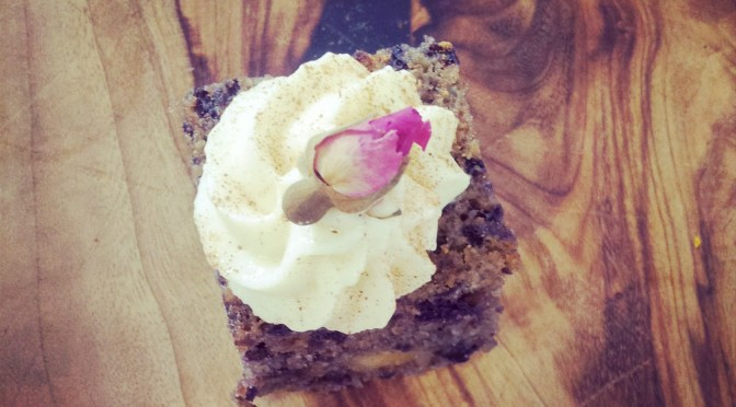 Ricotta Purple Carrot Cake