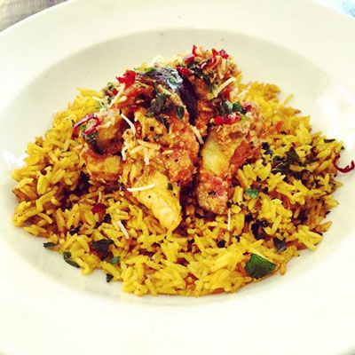 Culinary Bling…Delectable chicken, eggplant and coconut curry