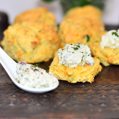 Pumpkin, parsley and parmesan scones…with culinary bling