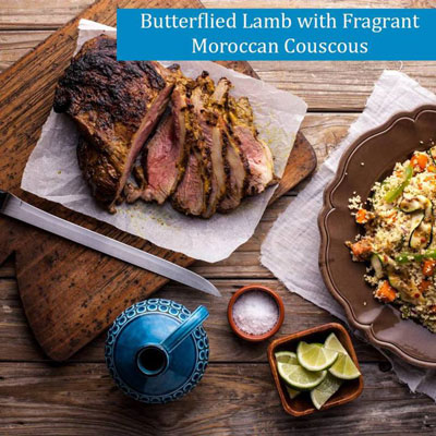 Delicious Butterflied Lamb with Fragrant Moroccan Couscous